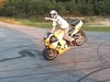 one handed stoppie - Click To Enlarge Picture