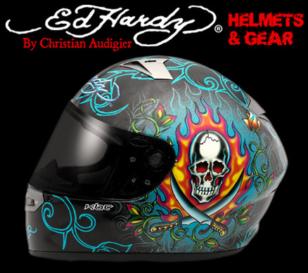 Ed Hardy signature custom motorcycles helmets have found a way to bring