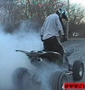 Burnout On A TRX450R - Click To Enlarge Picture