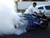 Sick Gixxer Burnout - Click To Enlarge Picture